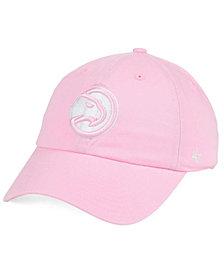 '47 Brand Women's Atlanta Hawks Petal Pink CLEAN UP Cap