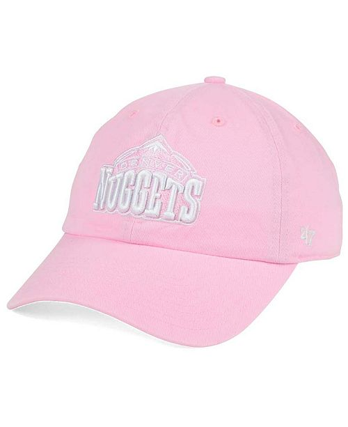 '47 Brand Women's Denver Nuggets Petal Pink CLEAN UP Cap