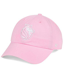 '47 Brand Women's Sacramento Kings Petal Pink CLEAN UP Cap