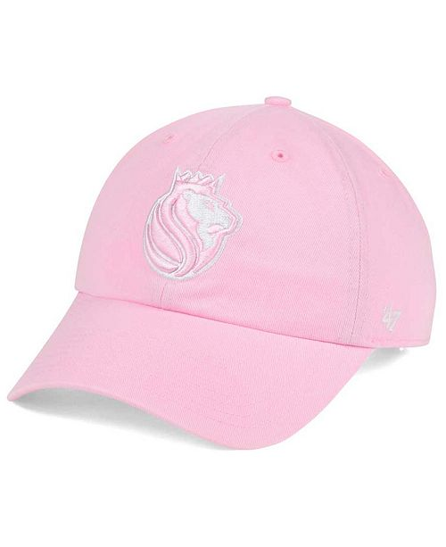 wholesale dealer e1cd0 620e3 ... Cap   47 Brand Women s Sacramento Kings Petal Pink CLEAN UP ...