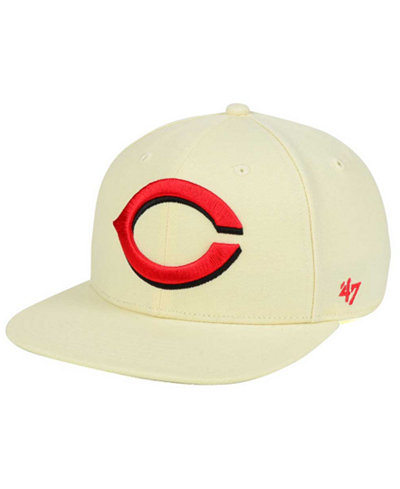 '47 Brand Cincinnati Reds Natural No Shot Snapback Cap
