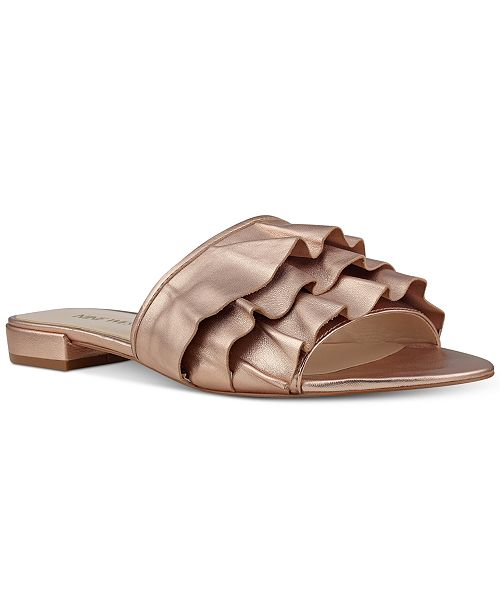 44efbeb1b50 Nine West Ivarene Slip-On Flat Sandals   Reviews - Sandals   Flip ...