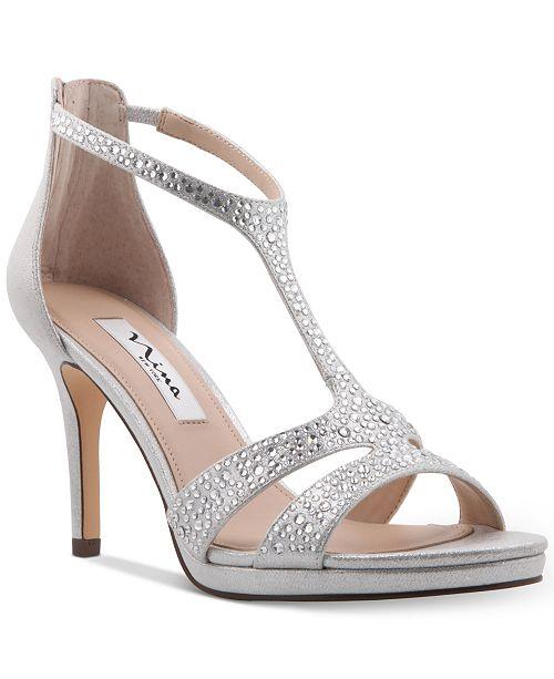 Nina Brietta T-Strap Evening Sandals   Reviews - Pumps - Shoes - Macy s