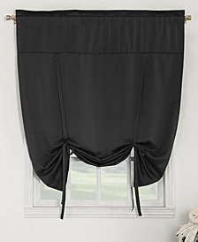 "Sun Zero Grant Room Darkening Pole Top 54"" x 64"" Tie-Up Shade"