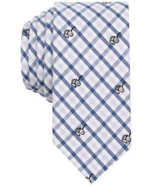Bar Iii Men's Sunglasses & Gingham Print Skinny Tie, Created for Macy's thumbnail