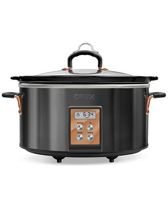 Crux 14624 6-Qt. Programmable Slow Cooker
