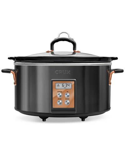 Crux 14624 6-Qt. Programmable Slow Cooker, Created for Macy's
