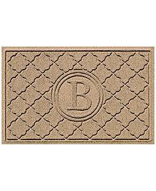 Bungalow Flooring Water Guard Bombay Khaki Monogram 2' x 3' Doormat