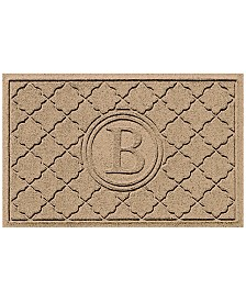 Bungalow Flooring Water Guard Bombay Khaki Monogram 2' x 3' Doormat