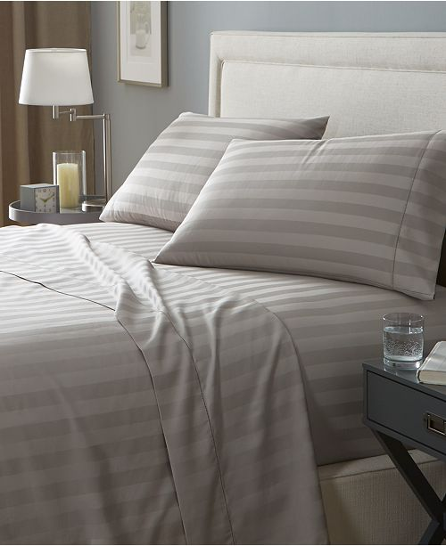 Charter Club Stripe California King 4 Pc Sheet Set 550 Thread Count