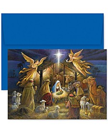 A Holy Scene Boxed Holiday Set of 18 Boxed Greeting Cards With Envelopes