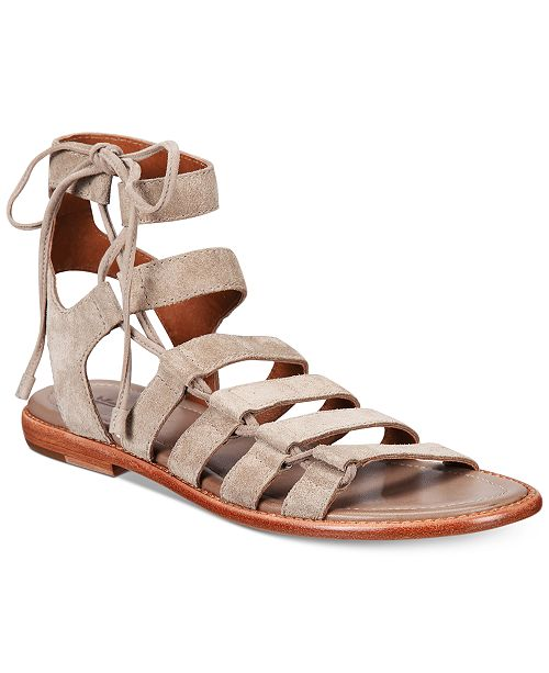 536fe3b7ff8 Frye Women s Blair Side Ghillie Flat Sandals   Reviews - Sandals ...