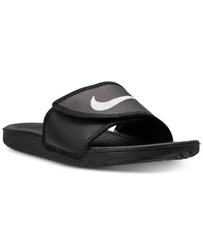 75e6f786d0be Nike Mens Kawa Adjustable Slide Sandals from Finish Line