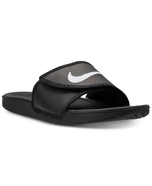 timeless design 23921 7d355 ... Nike Mens Kawa Adjustable Slide Sandals from Finish ...
