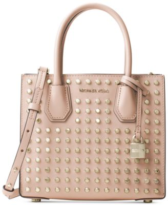 Image of MICHAEL Michael Kors Studio Mercer Studded Medium Messenger