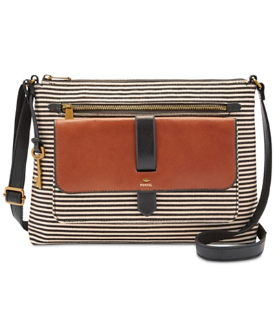 Fossil Kinley Large Stripe Crossbody
