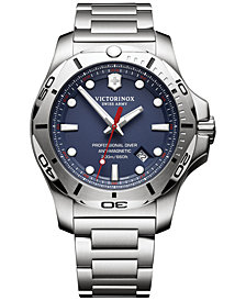 Victorinox Swiss Army Men's I.N.O.X. Professional Diver Stainless Steel Bracelet Watch 45mm