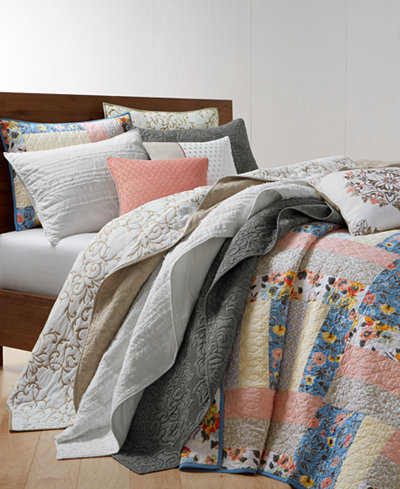 Martha Stewart Collection Cozy Spring 100% Cotton Quilt and Sham Collection, Created for Macy's