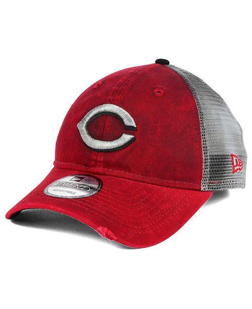 best website a28b8 4f9c5 ... New Era Cincinnati Reds Rustic Trucker 9TWENTY Snapback Cap ...