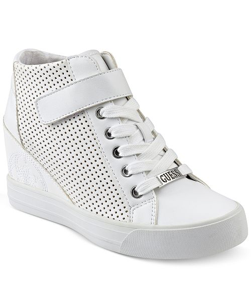 GUESS Women's Decia Wedge Sneakers - Sneakers - Shoes - Macy's