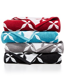 CLOSEOUT! Charter Club Cotton Fashion Trellis Bath Towel Collection, Created for Macy's