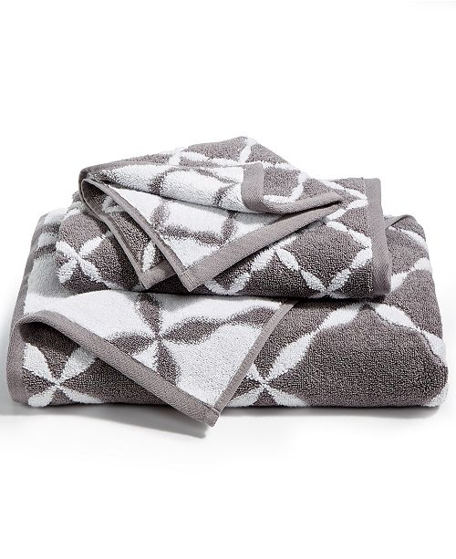 Charter Club CLOSEOUT! Elite Cotton Fashion Trellis Hand Towel, Created for Macy's