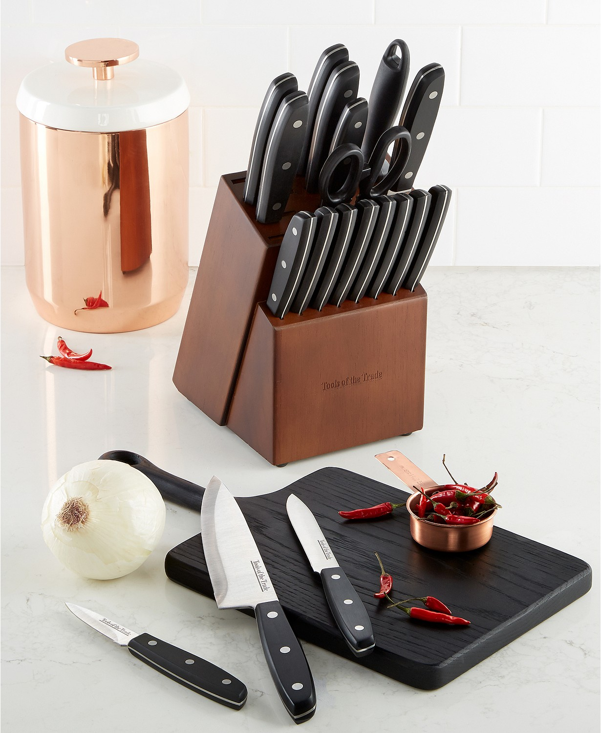 Tools of The Trade 20-Piece Cutlery Set with Block