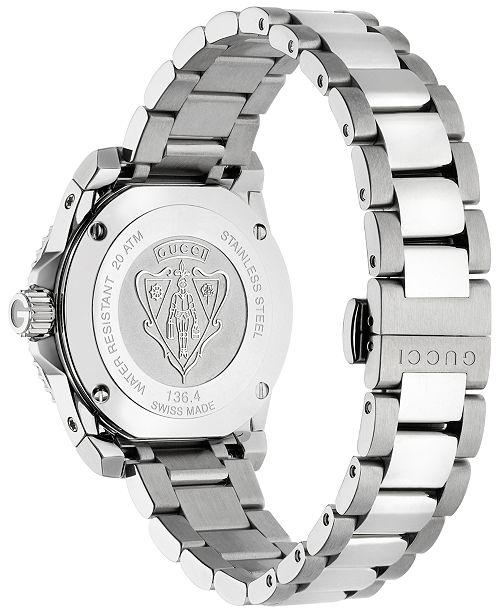 1d9f14b2144 ... Gucci Women s Swiss Dive Diamond (1 2 ct. t.w.) Stainless Steel  Bracelet ...