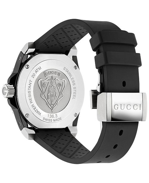 3a880758a32 Gucci Unisex Dive Black Rubber Strap Watch 40mm YA136303   Reviews ...