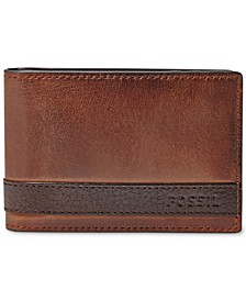 Men's Leather Quinn Money Clip Bifold Wallet