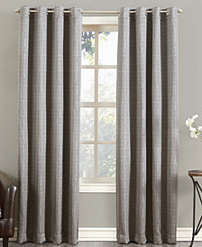 Sun Zero Tyrell Greek Key Blackout Lined Grommet Curtain Panel Collection
