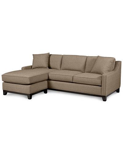 Keegan fabric 2 piece sectional sofa custom colors for Keegan 2 piece sectional sofa