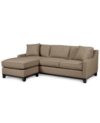 Keegan Fabric 2 Piece Sectional Sofa - Custom Colors  sc 1 st  Macyu0027s : 2 piece sectional sofas - Sectionals, Sofas & Couches