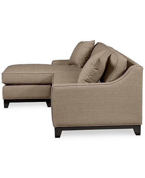 "Macys Furniture Columbus Ohio: Furniture Keegan 90"" 2 Piece Fabric Sectional Sofa"