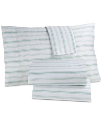 CLOSEOUT! Panama Jack Cotton 300 Thread Count 3-Pc. Coastal-Print Twin Sheet Set
