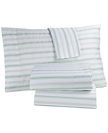 Panama Jack Cotton 300 Thread Count 4-Pc. Coastal-Print Queen Sheet Set