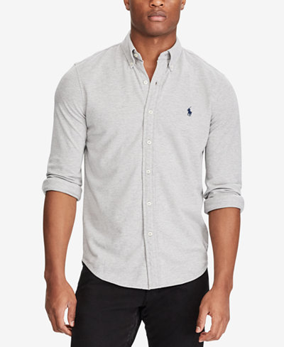 Polo Ralph Lauren Men's Classic Fit Cotton Mesh Shirt - Casual ...