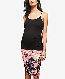 Motherhood Maternity Printed Pencil Skirt