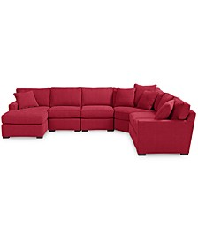 Radley Fabric 6-Piece Chaise Sectional Sofa, Created for Macy's