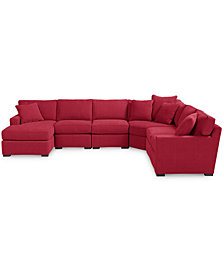 Radley 6-Piece Fabric Chaise Sectional Sofa - Custom Colors, Created for Macy's