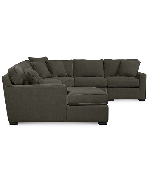 Furniture Radley Fabric 6 Piece Chaise Sectional Sofa