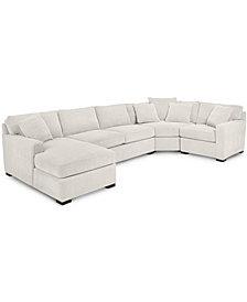 Radley 4-Piece Fabric Chaise Sectional Sofa - Custom Colors, Created for Macy's
