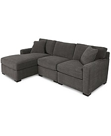 Radley 3-Piece Fabric Chaise Sectional Sofa, Created for Macy's