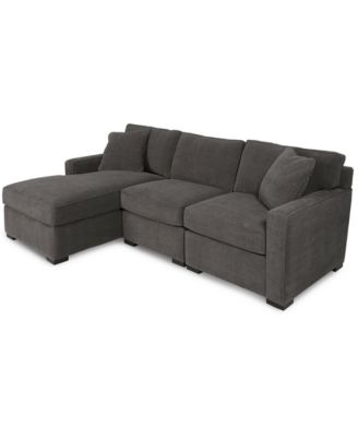 furniture radley 3 piece fabric chaise sectional sofa created for rh macys com small sectional sofa macys sectional sleeper sofa macys
