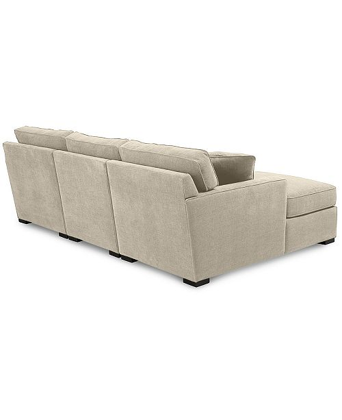 Furniture Radley 3 Piece Fabric Chaise Sectional Sofa