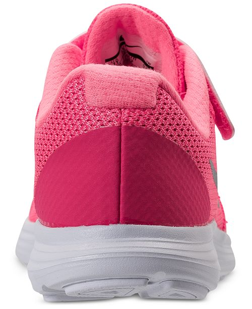 bf99560147326 ... Nike Little Girls  Revolution 3 Stay-Put Closure Running Sneakers from Finish  Line ...