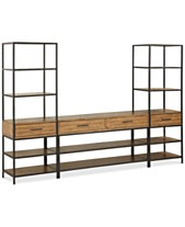 cea17cb1adf Gatlin Entertainment 3-Pc. Wall Unit (TV Stand   2 Piers)