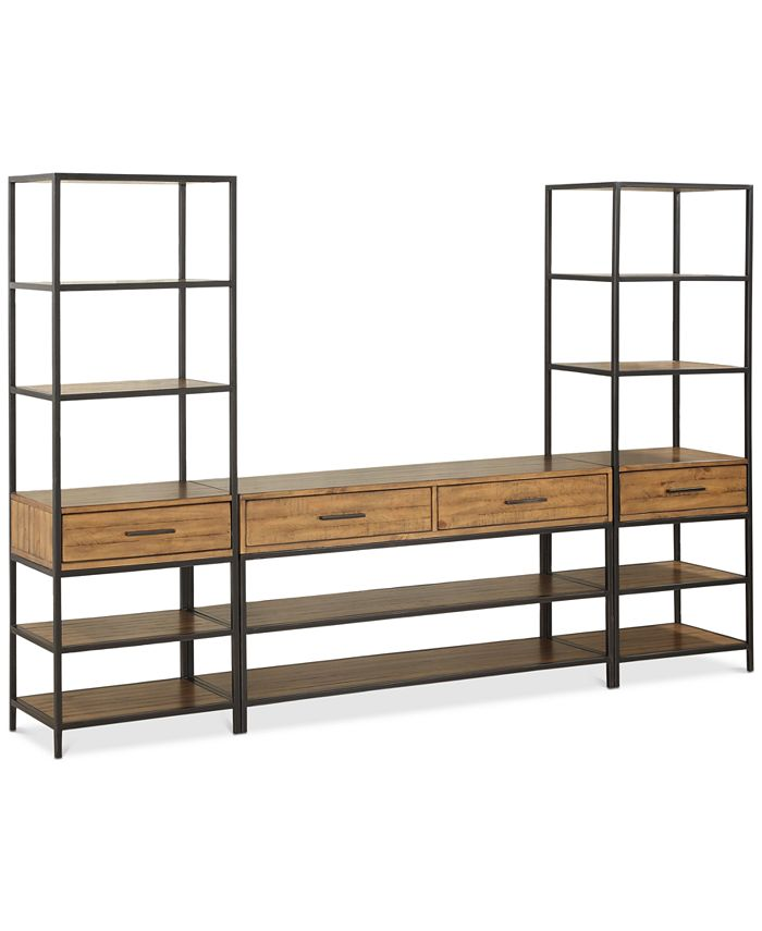 Furniture - Gatlin Entertainment 3-Pc. Wall Unit (TV Stand & 2 Piers), Only at Macy's