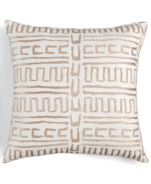 "Last Act! Hallmart Collectibles Ecru Embroidered 18"" Square Decorative Pillow 4758152"