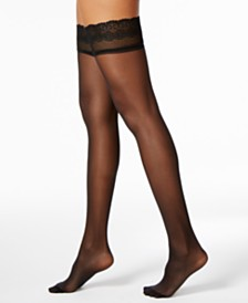 DKNY Women's  Sheer Lace Thigh Highs